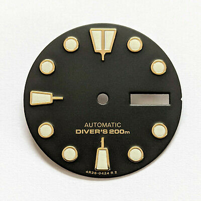 $ CDN48.20 • Buy Turtle Dial For Seiko SKX007, Seiko MOD Part, Fits NH35, C3Lume, Black + Gold