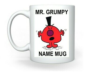 Mr. Grumpy Mr. Men Personalised Mug Add Aname Chrismas Tea Coffee. • 8.99£