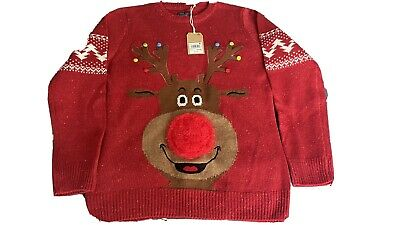 Boys Next Christmas Jumper Rudolph Age 11 Years Bnwt • 12£