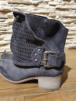 £28.99 • Buy Brand New Ankle Nubuck Suede Leather Italian Grey Boots RRP £189 Size 6 Eu 39