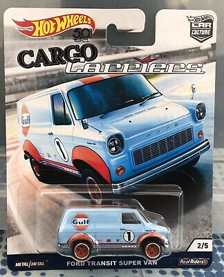 Hot Wheels Ford Transit Super Van Blue Gulf Cargo Carriers Car Culture 2018 • 14.99£