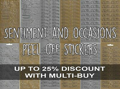 £1.50 • Buy Sentiment & Occasions Peel Off Outline Stickers For Card Making Gold Or Silver