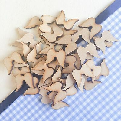 £1.39 • Buy Wooden Shapes Angel Wings Christmas Heart Family Tree Blank Card Making