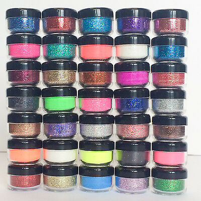 £1.69 • Buy Holographic Iridescent Glitter Pots Fine High Quality Nail Body Face Art Craft