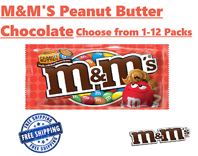 $39.95 • Buy M&M'S Peanut Butter Chocolate Candy, Singles Size, 1.63-Ounce Choose From: 1-12