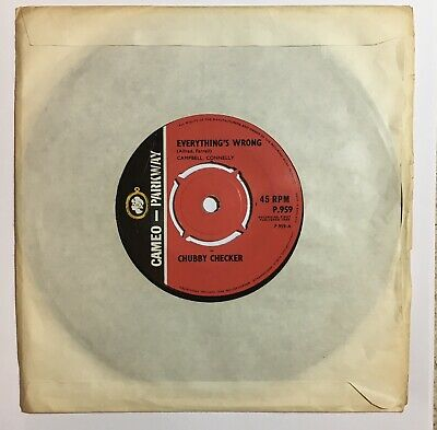 Chubby Checker Everything's Wrong Uk Cameo-parkway 45 • 23£