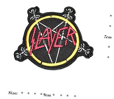 £2.49 • Buy Slayer Rock Music Band  Embroidered Patch Iron Or Sew On Applique Logo