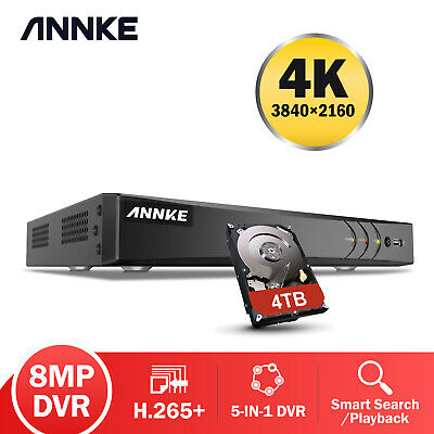 AU140.99 • Buy ANNKE 8CH 4K 8MP H.265+ 5IN1 DVR Recorder For CCTV Security Camera System Motion