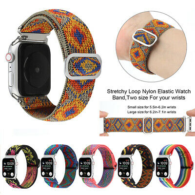AU16.99 • Buy  42/44mm Elastic Nylon Apple Watch Band For IWatch Series SE 6 5 4 3 2 1 38/40mm