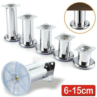 £11.99 • Buy 4pcs 6 To 15cm Stainless Steel Furniture Legs Cabinet Sofa Table Feet