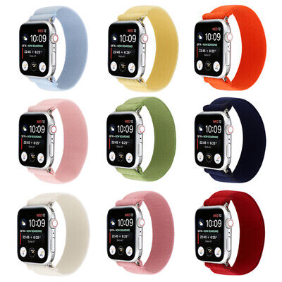 AU15.99 • Buy  42/44mm Elastic Apple Watch Band Nylon For IWatch Series SE 6 5 4 3 2 1 38/40mm