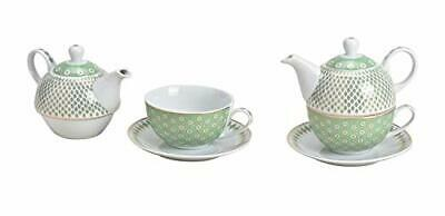 Tea For One Set Retro Design In Light Green (Jug, Cup, Saucer) • 34.99£