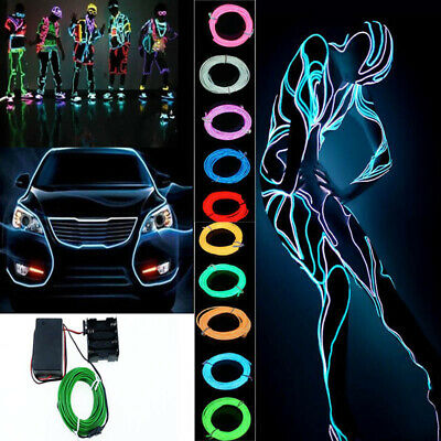 3m EL Wire Neon RGB Color Lights LED Stick Figure Kit Innovation Stage Costumes • 5.48£