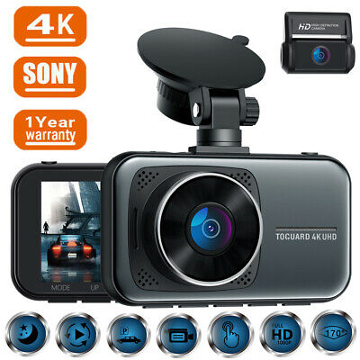 AU123.19 • Buy TOGUARD 12  GPS 2.5K Mirror Car Dash Camera Touch Screen Dual Front And Rear Cam