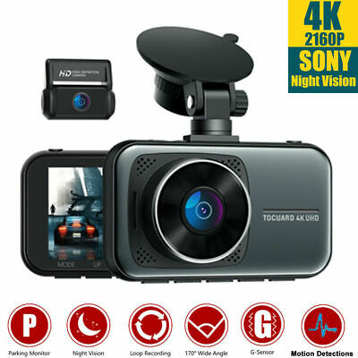 AU119.12 • Buy TOGUARD 12  GPS 2.5K Mirror Car Dash Camera Touch Screen Dual Front And Rear Cam