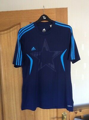 Official Adidas UEFA Champions League Dark Blue Football T-Shirt Size Large • 9.99£