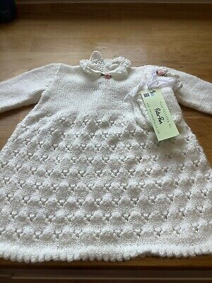 Handmade Knitted Christening Gown New • 8.99£