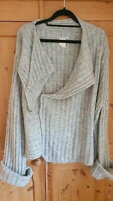 SARAH PACINI  One Size Grey Jumper Sweater Knitted Top • 9.80£