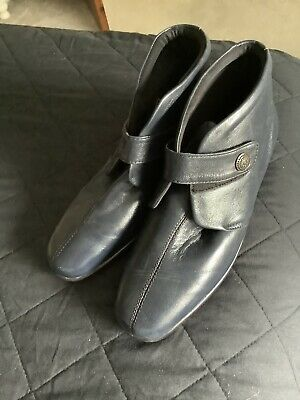 Ladies Pavers Soft Navy Ankle Boots, Size 7 • 7.50£