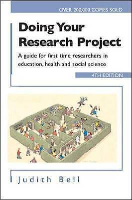 £2.50 • Buy Doing Your Research Project By Judith Bell. Very Good Condition.