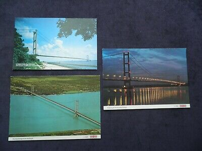 3 Postcards Of The Humber Bridge Linking East Yorkshire & North Lincolnshire • 2.99£