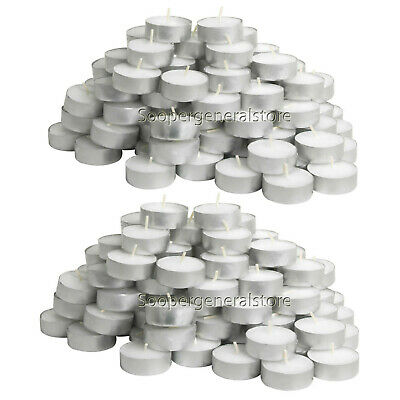 Tea Lights Candles Unscented White Wax T Light Tealight 4 Hours Pack Of 50 /100  • 9.95£