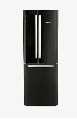 New Hotpoint Free Standing Fridge Freezer - Black (FFU3DG.1K) • 400£