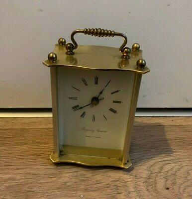 Vintage Regency Quartz Brass Carriage Clock- Battery Operated- Tested & Working • 7.99£