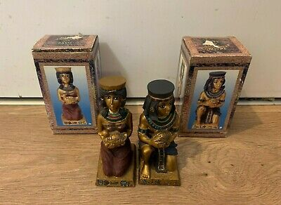 £4.79 • Buy Pair Of Egyptian Resin Figures/ Ornaments- Days Of Ancient Egypt- Queen/ Pharaoh