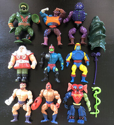 $15.50 • Buy Masters Of The Universe 9 Action Figure Lot + Accessories He-Man Vintage MOTU