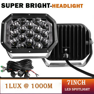 AU150.59 • Buy Pair 7inch LED Driving Light Spot Flood Headlights Offroad Spotlights 4x4WD Wire