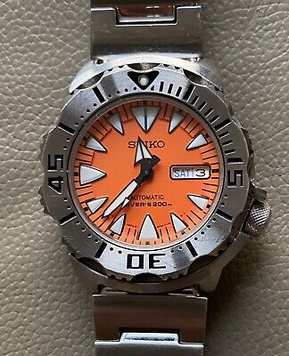 $ CDN940.73 • Buy Seiko 4R36-01J0 Orange Monster Shark Tooth Automatic Authentic Men's Watch Works