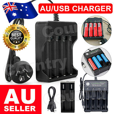 AU13.95 • Buy 18650 Battery Charge Universal 4.2V Rechargeable Li-ion Battery Smart Charger AU
