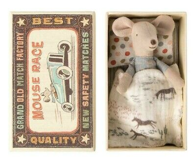 Maileg Little Brother Mouse In Matchbox Gift Present Mice Brand New • 19£