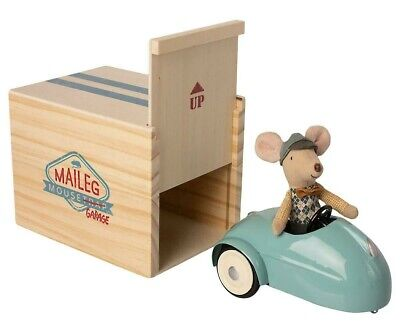 Maileg Mouse Car And Garage Little Brother Christmas Gift Present Mice Brand New • 58£