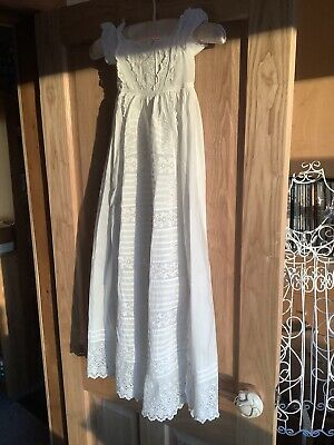 Vintage Broderie Anglaise Christening Gown • 12.99£