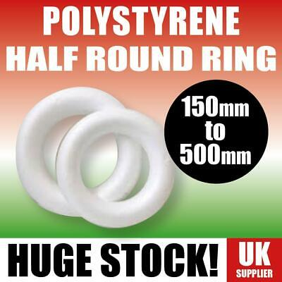 £6.25 • Buy POLYSTYRENE HALF ROUND RINGS Christmas Wreaths Decorations Various Sizes & Packs