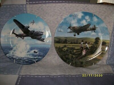 Pr. Of Spitfire / Lancaster Wall Plates, Limited Editions, Certificates, Hangars • 7.50£