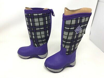 £37.72 • Buy Girls Toddlers Muck Boot (KAA-5PLD) Arctic Adventure Purple Plaid Boots (R12)