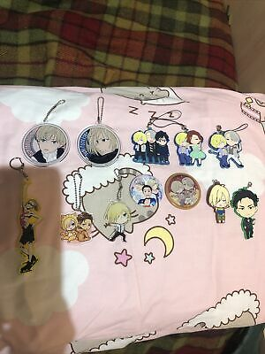 Yuri On Ice Anime Charm Lot Victor Yurio Otabek Yuri Ita Bag • 18£