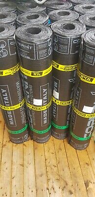 £33.99 • Buy IDROPOL 4.5mm Thick!! TORCH ON Roofing Felt Charcoal / BLACK Mineral RRP £55