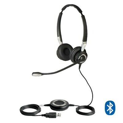 Jabra Biz 2400 II Duo Headset Microsoft Teams Skype Certified Bluetooth USB PC • 112.87£