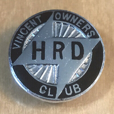 £34.99 • Buy Vintage The VINCENT H.R.D OWNERS CLUB Motorcycle Bike RARE Buttonhole Badge