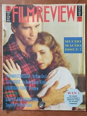 Film Review Magazine January 1987 Arnold Schwarzenegger In Raw Deal Cover • 1.30£