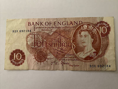 Bank Of England Ten Shillings Note (JS Forde) • 5£