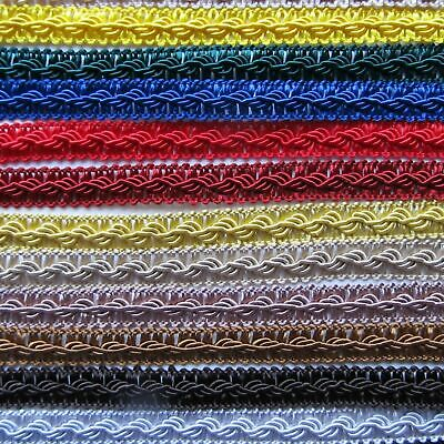 £0.99 • Buy Quality 12 Mm Decorative Trim Silky Tape Braid Craft Upholstery Gimp Cord Sewing