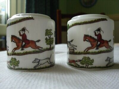 Coalport Hunting Scene Salt & Pepper Cruet Set • 18£