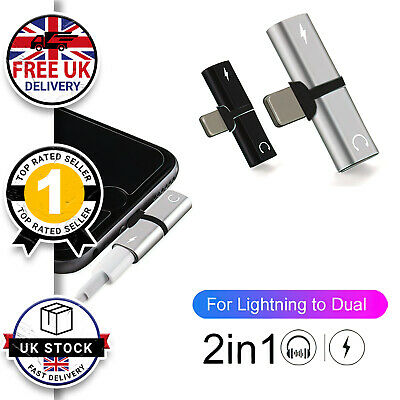 £2.96 • Buy Dual Headphone & Charging Adapter Splitter Connector For IPhone 7 8 X XR 11 12