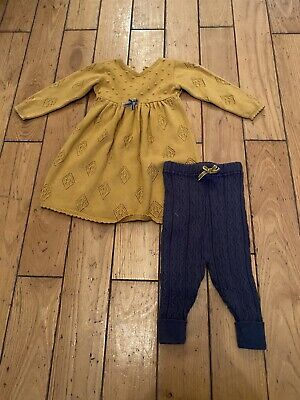 Mamas And Papas Girls Leggings And Dress 3/6months • 1.10£
