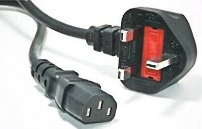 Power Cable 3m PC Monitor C13 Cord IEC Kettle Lead 3 Pin UK Plug • 6£